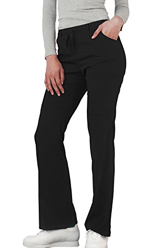 Adar Indulgenc Jr. Fit Low Rise Boot Cut Patch Pocket Pants - 4104 - Black - XXS by ADAR UNIFORMS