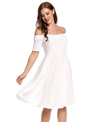 Hem Shirt White Size Casual Women's T Vestyle Dress Plus Tunic Dress ZtqTxA