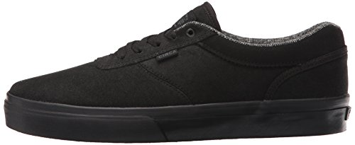 C1RCA Men's Gravette Skateboarding Shoe, Black/Shadow, 10 M US