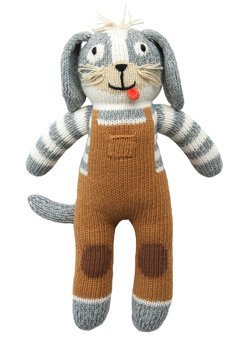Blabla Toutou The Dog Mini Plush Doll - Knit Stuffed Animal for Kids. Cute, Cuddly & Soft Cotton Toy. Perfect, Forever Cherished. Eco-Friendly. Certified Safe & Non-Toxic.