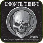 10 Union Til the End Skull Stickers K-6