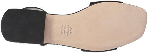 Weitzman Flat Stuart Oneway Women's Sandal Black Calf UdAqZx