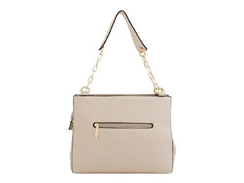 Handle Studded Orange Shoulder Faux Chain KT2200 Bag Leather Women's Handbag Ladies Designer WnPfT01na