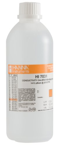 Calibration Conductivity Solution - Hanna Instruments HI7031L 1413 µs/cm Conductivity Calibration Solution, 500mL Bottle