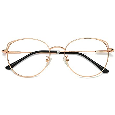 SOJOS Cat Eye Blue Light Blocking Glasses Hipster Metal...