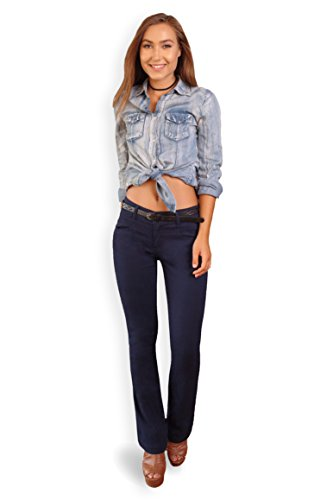Bebop Women's Bootcut Pant, Navy, Size 7, Stretch Cotton Twill, Removable -