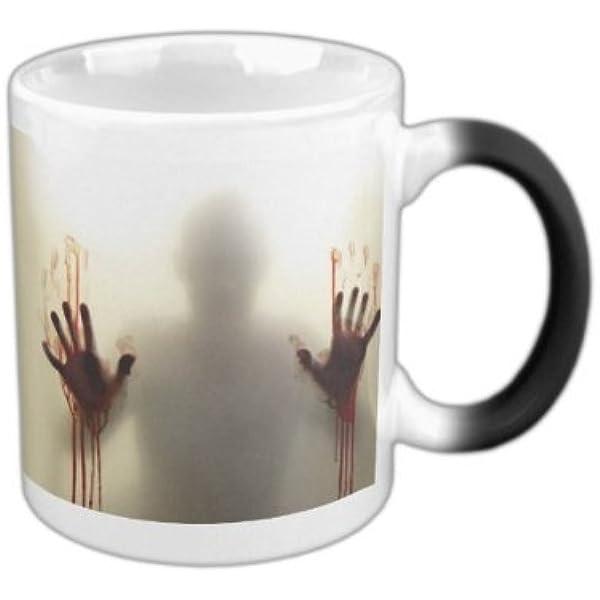 Color Changing Zombie Mug Hot Cold Heat Sensitive Color Changing Ceramic Mug 11oz Clothing Amazon Com