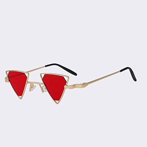 de clásico W red gafas Mujer Oculos sea calidad MARRÓN CAFÉ Steampunk sol Gold punk sol UV400 alta de de lente TIANLIANG04 roja gafas de Hombre metal estilo para w en 8wPx8gnq