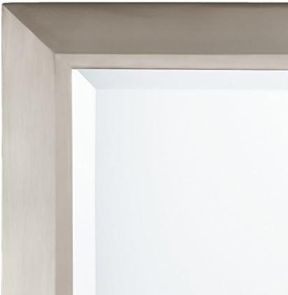 Kichler Lighting Nickel 41011NI Rectangular Wall Mirror Brushed, 24 W x 30 H