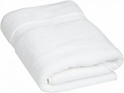 Kuber Industries 400 GSM Cotton Bath Towel - White