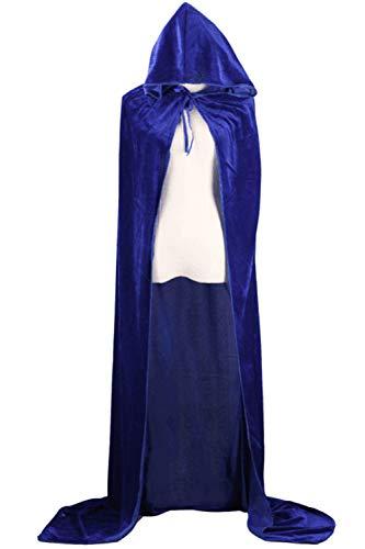 Dimensioni Di Incappucciato Donne Mantelli Più Sopliagon Halloween Blu Costume Cosplay Le q1HwBzO