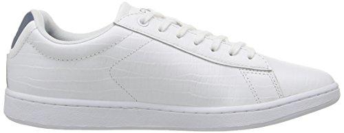 Womens Lacoste Carnaby Evo Sneaker Bianco / Blu