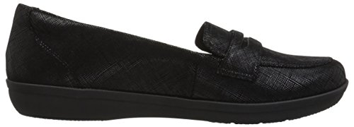 Clarks Women's Ayla Form Loafer Black Synthetic Nubuck 48FXcE