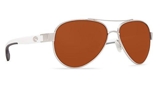 Costa Del Mar LR21OCGLP Loreto Sunglass, Palladium - Sunglasses Direct