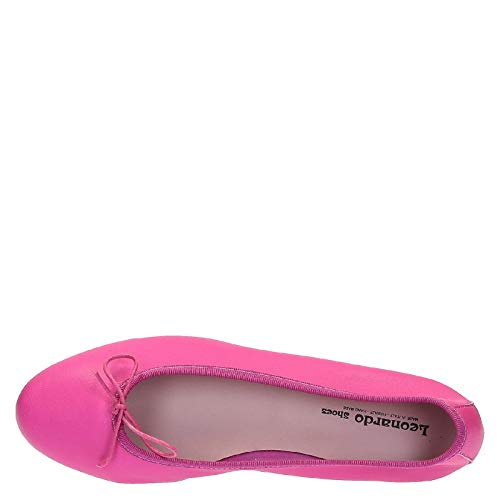 Nappa Leonardo In Ballerine Shoes Rosa Fuchsia Color 4PPtRwq