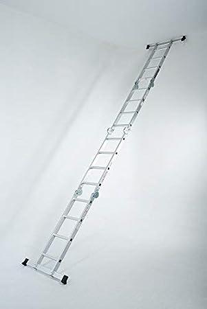 WORHAN/® MEHRZWECKLEITER ANLEGELEITER STEHLEITER 670cm AUS ALUMINIUM LEITER 6,7m KS6.7