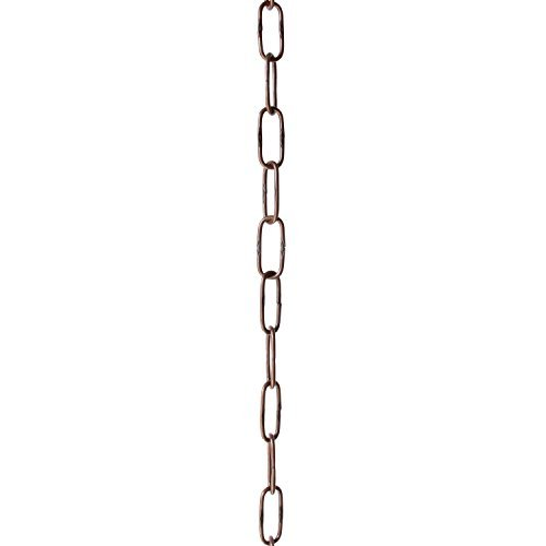 RCH Hardware CH-S58-40-AC-3 | 6 Gauge Decorative Solid Steel Spanish Link Fixture Chain | 3 Foot Increments |Antique Copper Finish