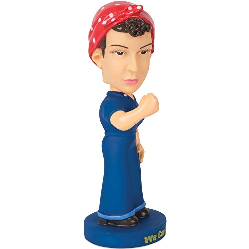 - Johnson Smith Co. - ACCOUTREMENTS Rosie The Riveter We Can Do It Bobble Head Doll - Handpainted 7