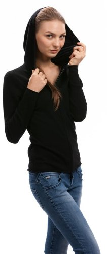Hoodie Mujer - 100% Cachemira - por Citizen Cashmere Negro