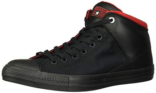 Converse Men's Chuck Taylor All Star High Street Space Explorer Sneaker, Black/Enamel Red, 9 M US (Converse All Star Men)