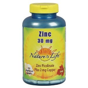 Nature's Life Zinc Picolinate Capsules, 30 Mg, 250 Count