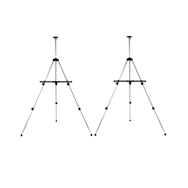 Artecho-Artist-Easel-Display-Easel-Stand-2-Pack-Alluminum-Tripod-Stand-Easel-for-Painting-Hold-Canvas-from-21-to-66
