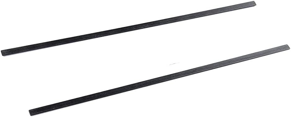 XMRISE Carbon Fiber Strips Flat Bars Rods Sheets Belts Part Accessory 1mm x10mm x 500mm for Robots Cutable 2PCs