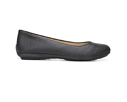 Naturalizer Women's Black Una Embossed US Black Flat 8 W rpUrqdx