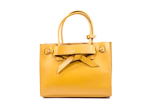 Pinko Bressuire briefcase leather Yellow