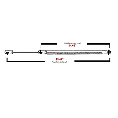 Rear Window Glass Lift Supports Struts Gas Springs Shocks For 1987-1995 Jeep Wrangler 4761 SG214008,Pack of 2: Automotive