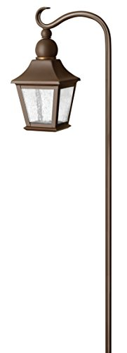 Hinkley Landscape Lighting Bratenahl Path Light - Add Security to Outdoor Walkways and Paths with Ultra-Durable Path Lights, 12-Volt, Robust Copper Bronze Finish with Clear Seedy Glass, 1555CB ()