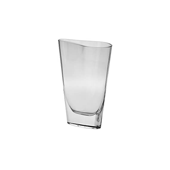 """Krosno Handmade Oslo Vase, 8"""" - Handmade 8-Inch vase with Exceptionally unique molded Wave design Wider than Deep Thick sham unique to Krosno glass - vases, kitchen-dining-room-decor, kitchen-dining-room - 31vXk7xhZrL. SS570  -"""