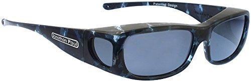 Jonathan Paul® Fitovers Sabre Medium Polarized Over Sunglasses ; Blue-Cloud & Polarvue - Jonathan Fitovers Eyewear Paul