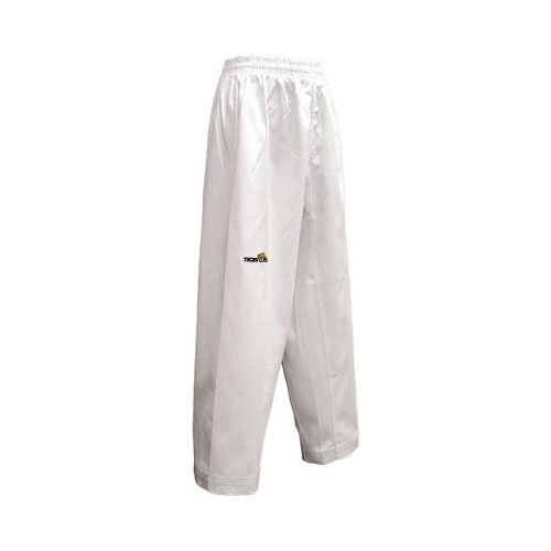 Tiger Claw Elite Poly/Cotton Karate Pants - White - Size 6 by Tiger Claw