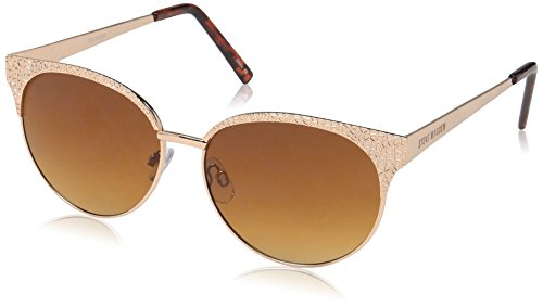 Steve Madden Women's Katelyn Square Sunglasses, Gold, 60 - Case Sunglasses Johnson Betsey