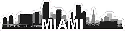 - 10x2.5 Miami Skyline Sticker Travel City Car Bumper Truck Window Decal Stickers