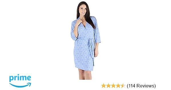 9f5bef56f1 bSoft Women s Sleepwear Lightweight Bamboo Jersey Short Wrap Robe at ...
