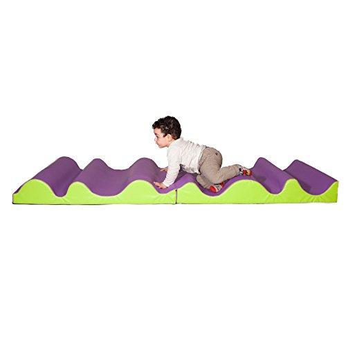 Kidunivers – Teppich Wellen gewellt DOUBLES Baby P Ti Engel 200 x 200 cm