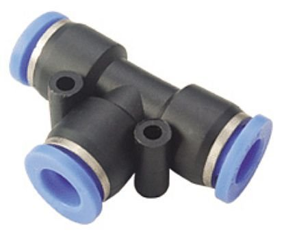 5 Pack HFX Brand 3//8 Union Tee Pneumatic Fitting