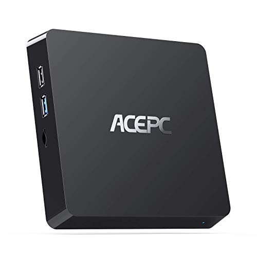 ACEPC Mini PC, T11 Windows 10 Pro Intel Atom Z8350 8 GB RAM 128 GB SSD Fanless mini Computer,support for 2.5-inch SSD…