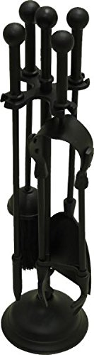 Black Country Metal Works Sphere Top Classic Fireside Companion Tools Set 46.5cm Tall