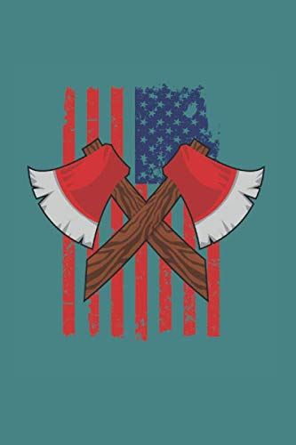 Axe Hatchet American Flag: Funny Axe Throwing Gift 6X9 Graph Paper Journal