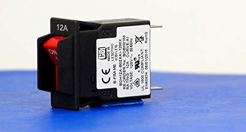 BDBH0158 (1 Pole, 12A, 120VAC, Quick Connect, Series Trip, UL Recognized (UL 1077)), Circuit Breaker, Hydraulic Magnetic, CBI
