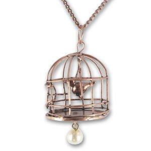 Cadena y colgante jaula para pájaro 38 mm cobre antiguo x1: Amazon ...