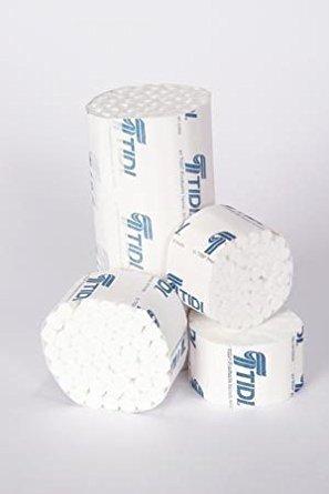 TIDI 969120 Dental Cotton Roll, Non-sterile, 1 Small Diameter, 5/16'' Diameter, 1.5'' Length (Pack of 2000) by Tidi