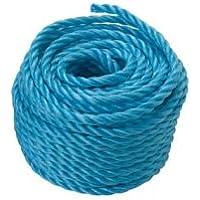 Cuerda plástico polipropileno, cuerda azul 30mx6mm