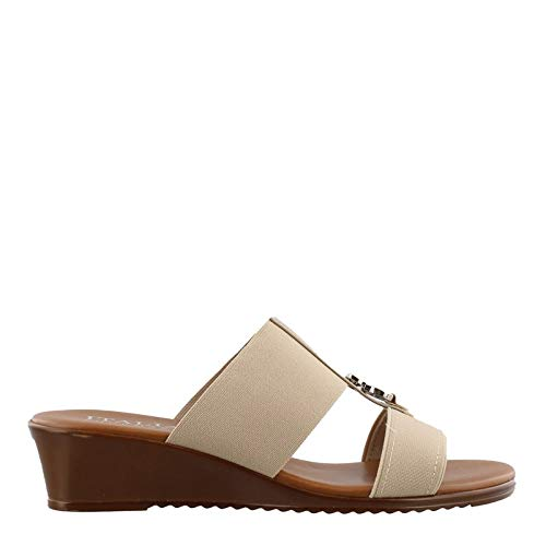 ITALIAN Shoemakers Women's, Avery Sandals Taupe 8.5 ()