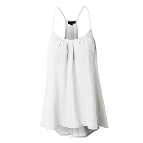 White Ruffled Cotton Camisole - Kangma Women Chiffon Sexy Sleeveless Halterneck Shirt Tank Crop Tops Camisole