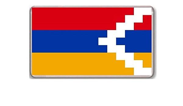 Bandera de la República de Nagorno-Karabaj/imán...: Amazon.es: Jardín