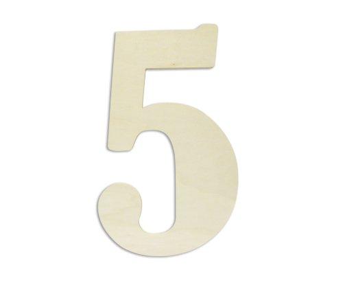 UNFINISHEDWOODCO Oversized Unfinished Wood Letters, 18-Inch,